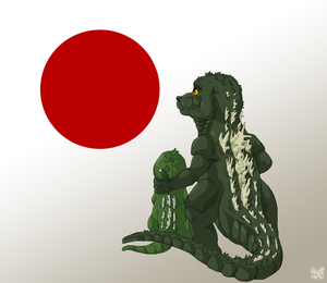 Godzilla__pray_for_japan_by_izzyand